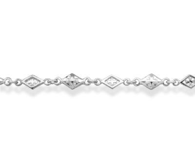 MIXED DIAMOND SHAPED CROSS OPEN SOLID