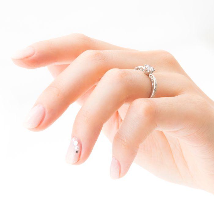 婚約指輪 ME-12・WAVE